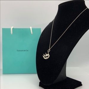 Tiffany & Co. 925 Crown Pendant & Chain Necklace
